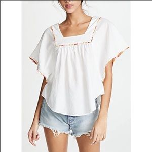 Madewell Pom buttery fly top.